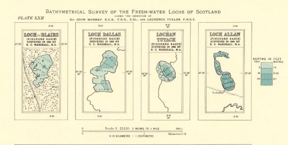 Bathymetric survey map
